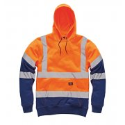 SA22095 High Visibility Two Tone Hoody Orange/navy