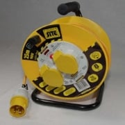 110 Volt Cable Reel c/w 2 x 16amp sockets