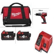 M18BPD-402 18v Cordless Combi Drill In Carry Bag With Charger + 2 Batteries