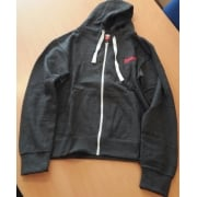 Grey Zip Fronted Fleece Hoody
