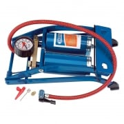 Double Cylinder Foot Pump with Pressure Gauge