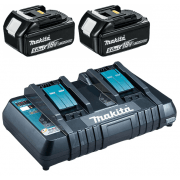 BL1850 18v 5.0ah Battery Twin Pack + DC18RD Twin Port Charger 240v