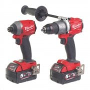 M18FPP2A2-502X 18v Gen II Twin Pack Combi Drill & Impact Driver In Case