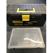 1-94-481 15 Inch Plastic Toolbox With Bit Tray Organiser