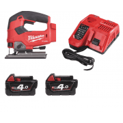 M18FJS-402C 18v Fuel Jigsaw With 2 x 4.0Ah Batteries, Charger, Case