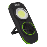 LED50WS Rechargeable Torch with Wireless Speaker 10W COB LED