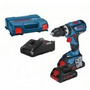 GSB18V-60C 18v Brushless Combi Drill 2 x 4.0ah Batteries Charger + L-boxx