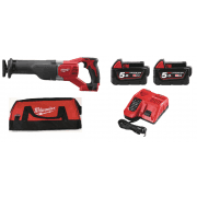 M18BSX-502 18v Recip Saw With 2 x 5.0Ah Batteries, Charger, Bag