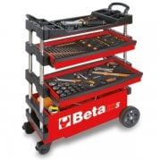 C27S Folding Tool Trolley Red